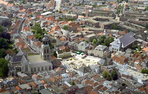 Luchtfoto's Bergen op Zoom Ravelijn krabbenfoor de plaat